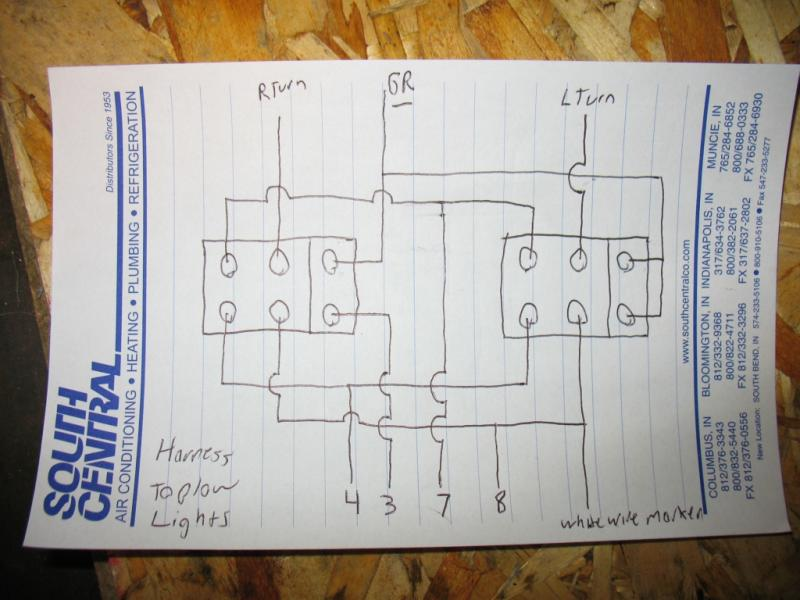 Image Showing A Complex Lighting Circuit Diagram