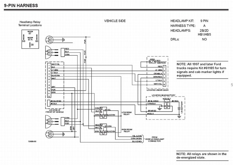 western unimount plow wiring diagram for a light bulb lamp socket can 9pin harness be connected to 12pin plowsite here is the schematic look on pg 56 http www westernplows com pdfs 22373 07 110108 web pdf