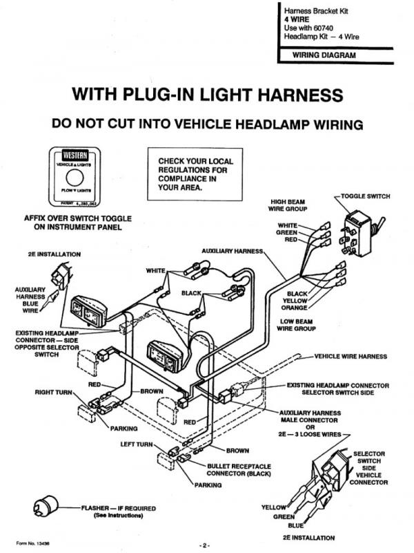 Wiring Diagram For Old Western PlowSite