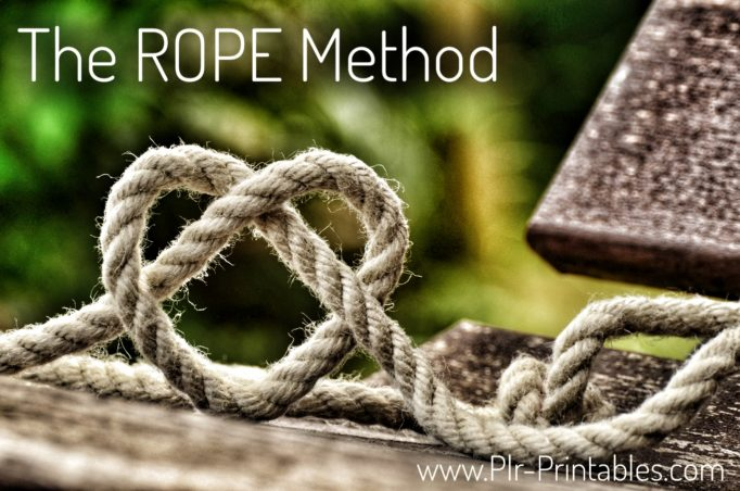 The Rope Method for PLR - Image Rope in Heart Shape