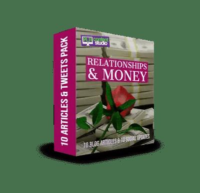 Relationships & Money PLR Article & Tweet Package$9.99