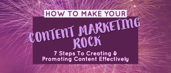 Content marketing rocks feature