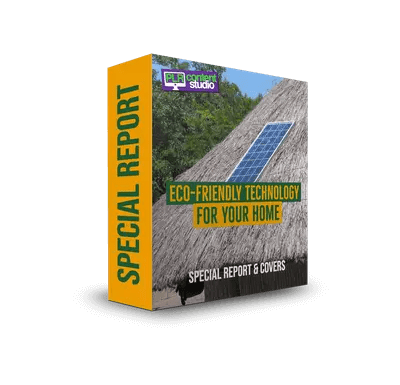 Eco-Friendly Technologies for Your Home PLR Report Pack$12.99