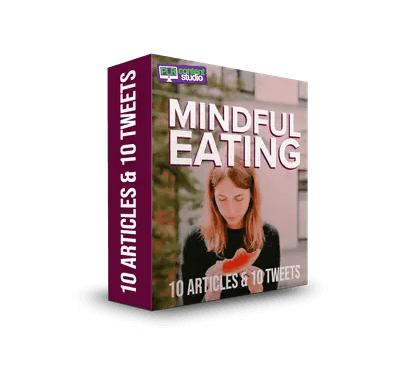 Mindful Eating PLR Articles & Tweets Pack Only $9.99