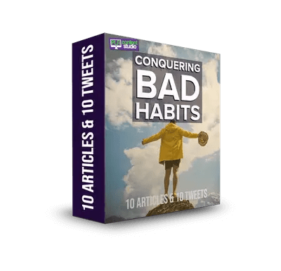 Conquering Bad Habits PLR Articles & Tweets Pack  $9.99