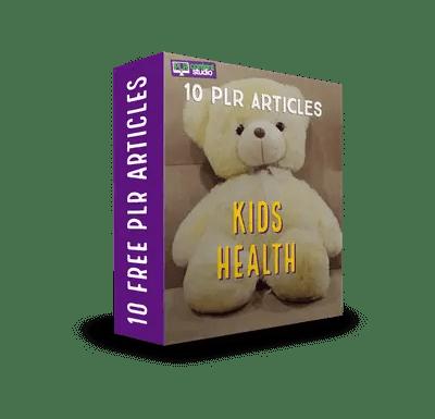 Healthy Kids FREE PLR Article Pack