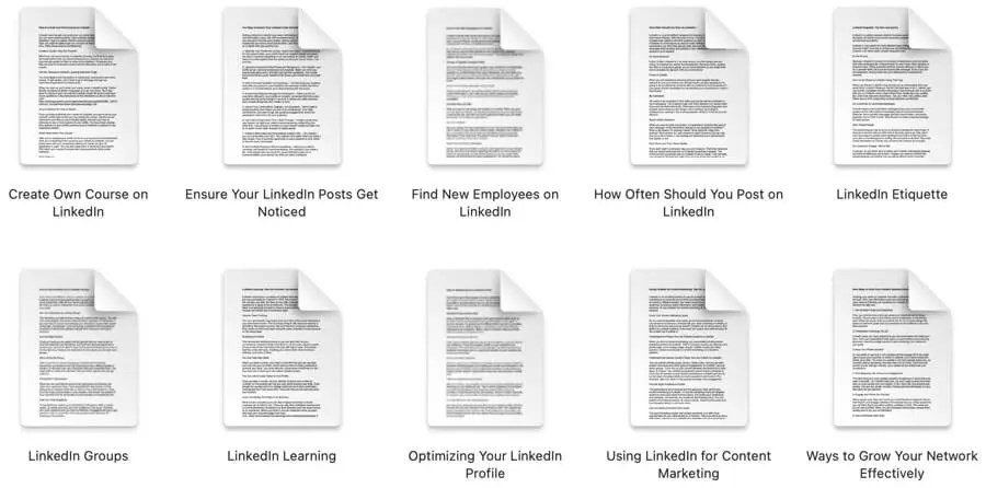 Linkedin-PLR-articles