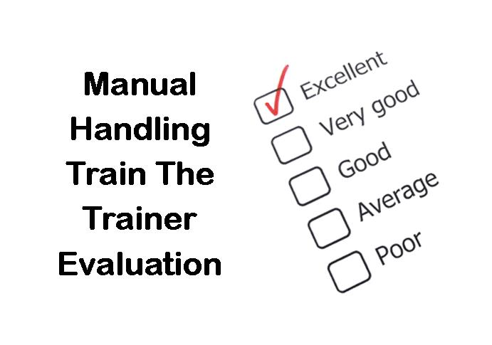 PLT Training Manual Handling Train The Trainer Evaluation