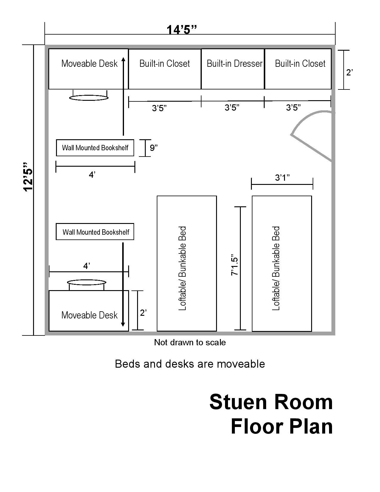 Dorm Room Floor Plan