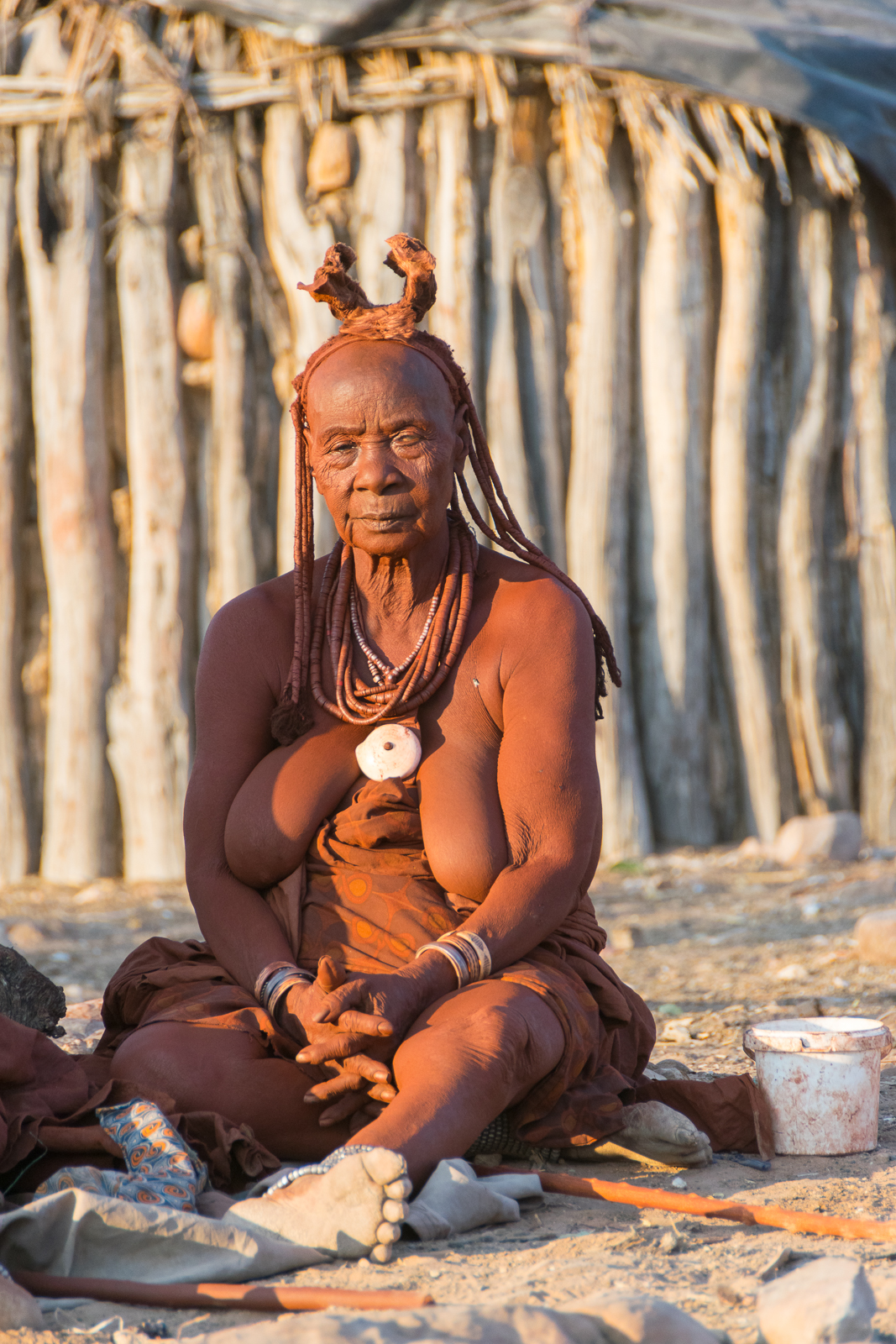 In a Himba village