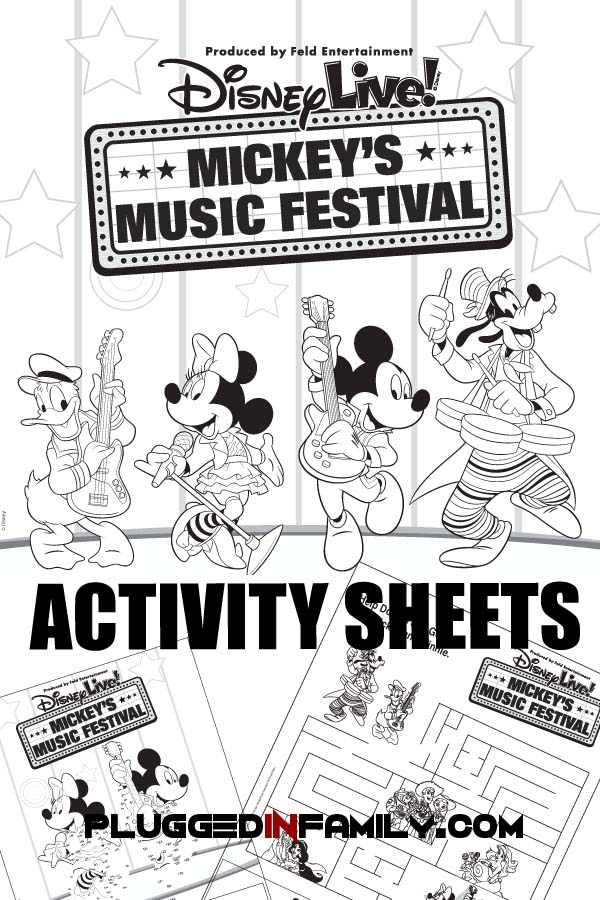 Disney Live! Activity Sheets