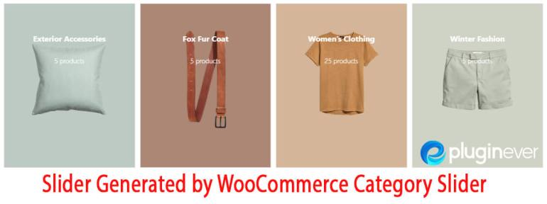 Image representing custom slides generated by WP WooCommerce Category Slider.