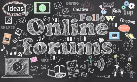 first social nets = forums