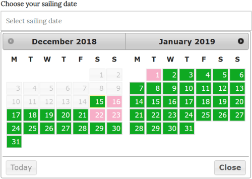WordPress Boat Booking Plugin