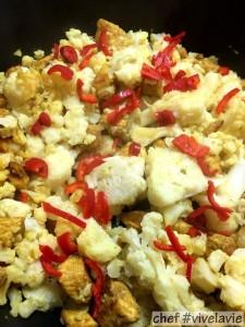 Kip-bloemkool-curry Madras met gekruide rijst