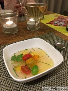 Gazpacho transparante