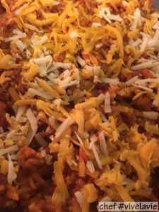 Kip met chorizo en rijst