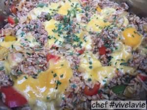 met rijst en gehakt