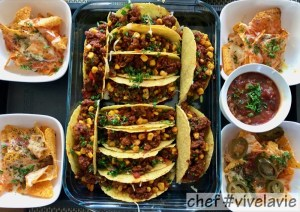 Taco's met nachos en salsa