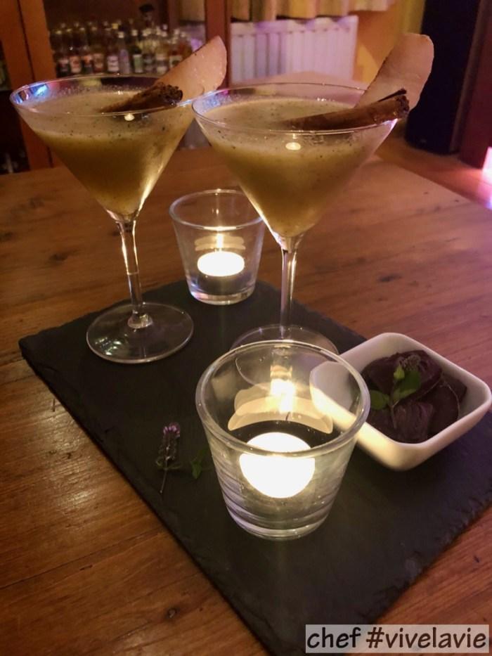 Gerookte nashi peer cocktail