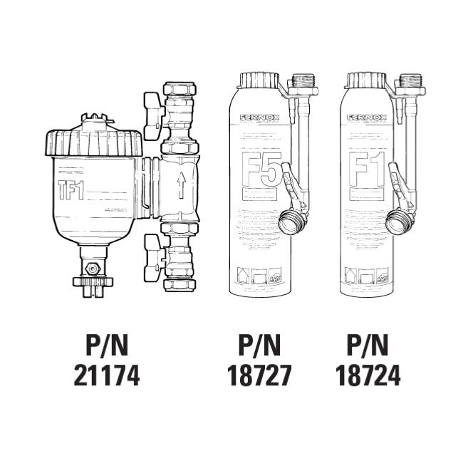 Fernox 62169 TF1 22mm Compact Installers Pack