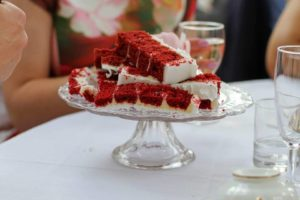 Red velvet Wedding cake slices