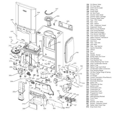 small resolution of logic combi 30 parts list