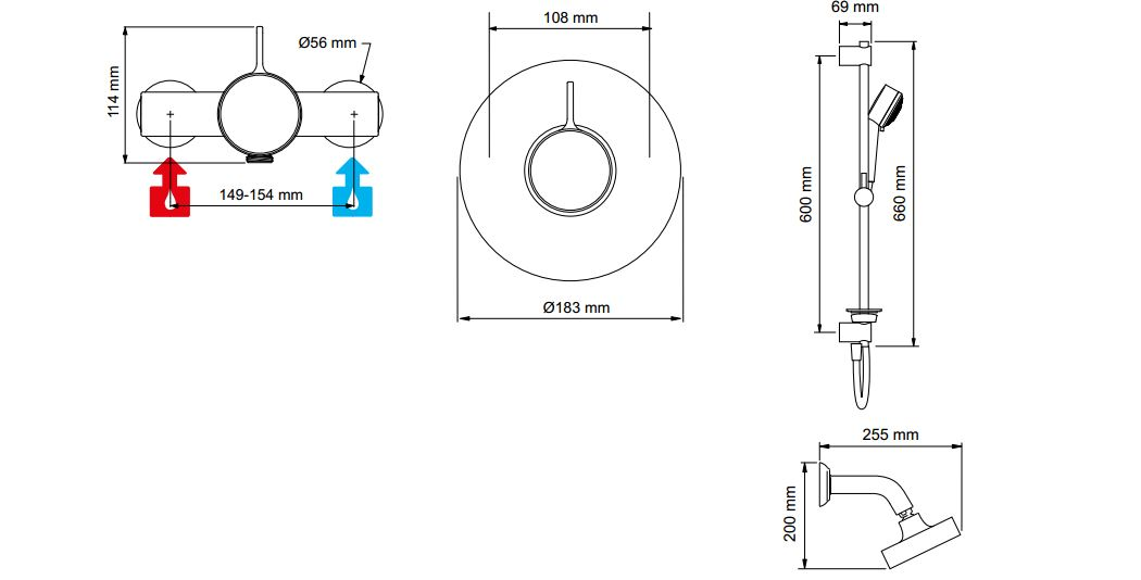 Mira Select Thermostatic Mixer Shower with Built in Valve