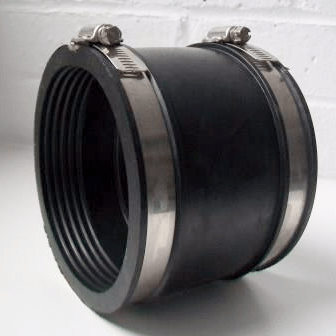 Flexible Rubber 4 110mm Soil Pipe Connector 100mm115mm