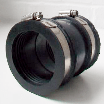 Flexible Rubber Waste Pipe Connector 50mm  65mm  54001802  Plumbers Mate Ltd
