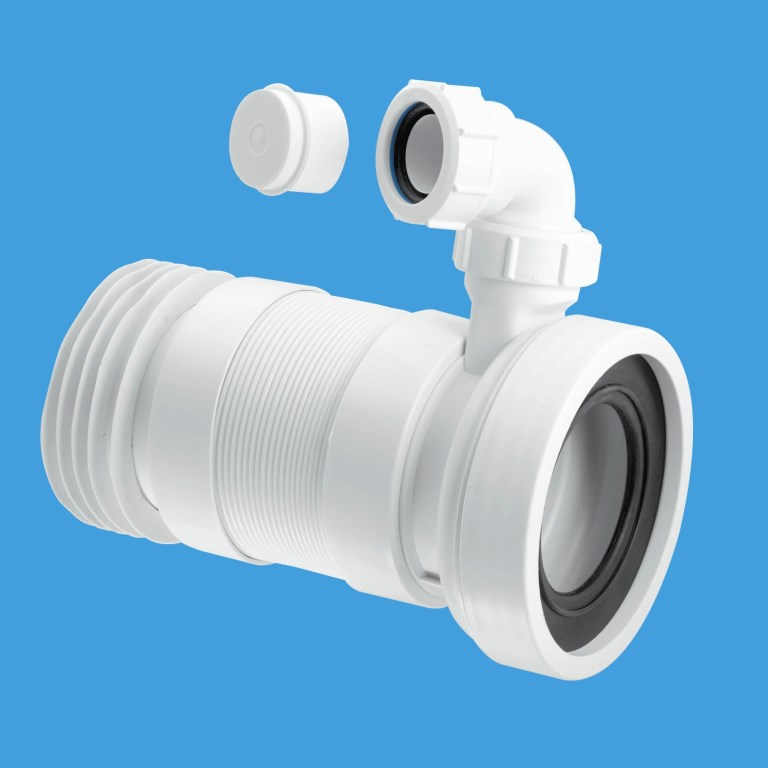 McAlpine Long 410mm Flexible WC Pan Connector with Basin