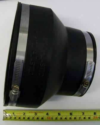 Rubber Drain Pipe Reducer 104mm x 112mm to 111mm x 133mm  Plumbers Mate Ltd