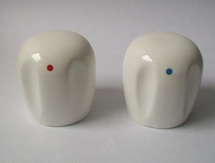 ceramic kitchen sink vintage white handle replacement tap heads - pack of 2 ...