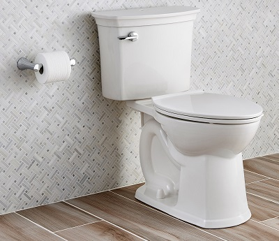 view of installed acticlean right height elongated toilet