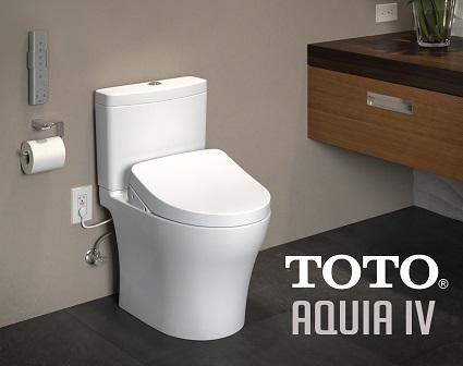 installed toto aquia iv with washlet