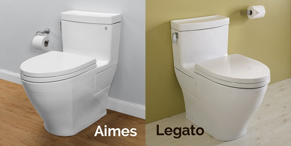 new aimes and legato toilet models by toto