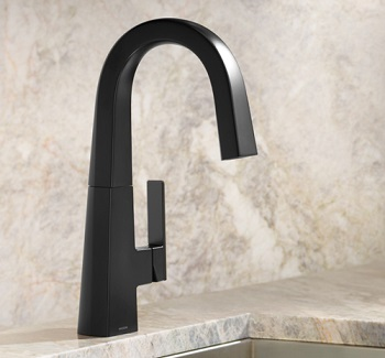 matte black nio bar/prep faucet installed
