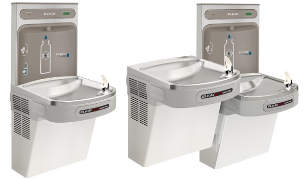 comparison of single station to bi-level touchless coolers with ezh2o