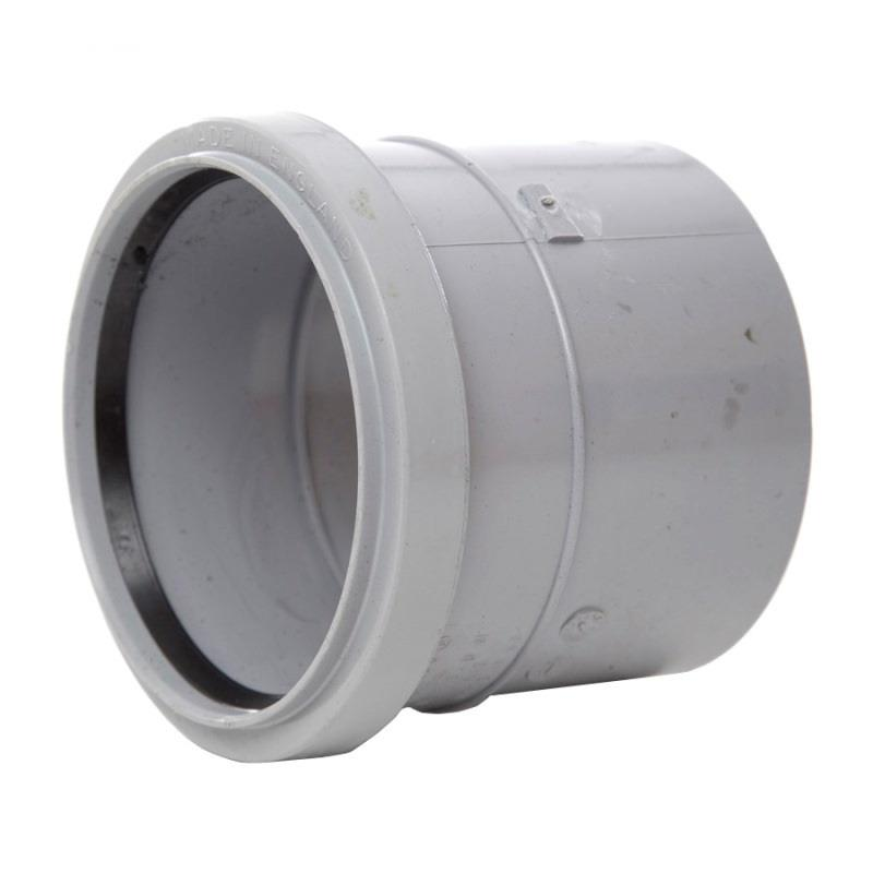 POLYPIPE Ring Seal Soil and Vent 110mm Straight Coupling
