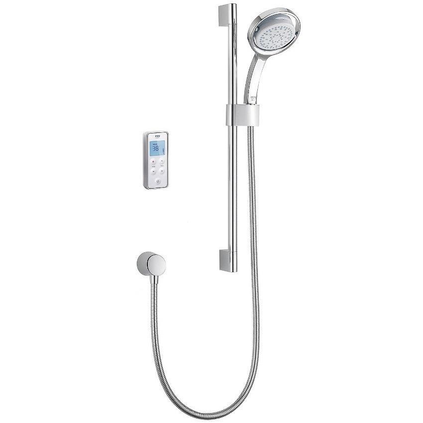 MIRA Vision Digital Shower, Rear Fed, HP/Combi, White
