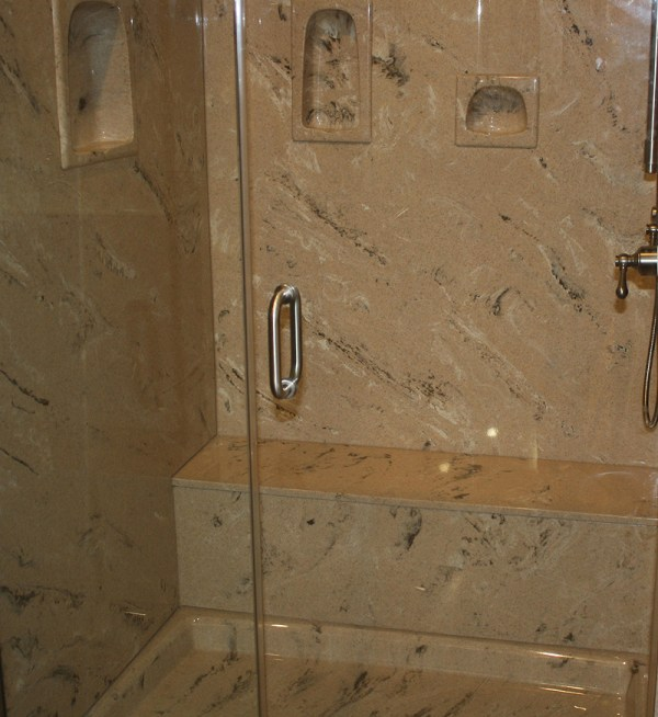 Stone Solid Surface Shower Walls