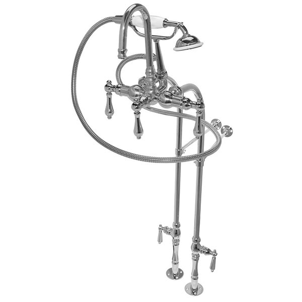 Tub & shower faucets with supply lines