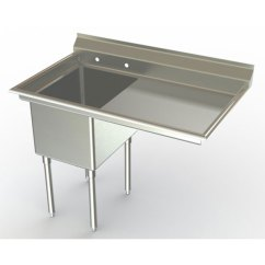 Kitchen Sinks With Drainboards Stonewall Coupons Single Bowl Commercial Stainless Steel Made In Usa
