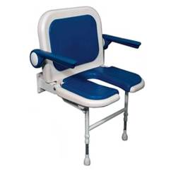 Handicap Shower Chair Graco Blue Owl High Fold-up Padded Seats - Safety For Those With Disabilities