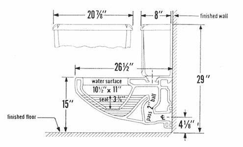 American Standard Toilet Repair Parts for Glenwall Series