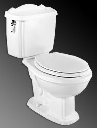 Example of an older American Standard toilet