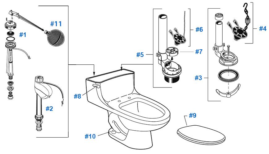 Wiring Diagram: 27 American Standard Champion 4 Parts Diagram