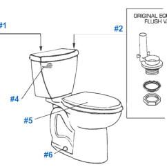 Mansfield Flush Valve Diagram Lifan 125 Stator Wiring American Standard Toilet Repair Parts For Cadet Series Toilets