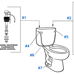 Toilet Repair Parts Diagram Reverse Light Wiring American Standard For Cadet Series Toilets