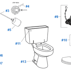 Toilet Repair Parts Diagram Strat Wiring 5 Way Switch American Standard For Cadet Series Toilets